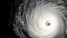 Drehender Hurrikan mit eingebautem Farbenreinheitsschlüssel vektor abbildung