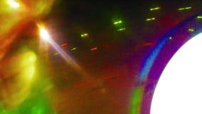 Drehender Röhrenblitz mit weißem und blauem grünem Licht stock video