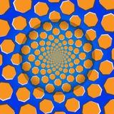 Drehender Siebeneck, optische Täuschung, Vektor-Illustrations-Muster Stockfoto