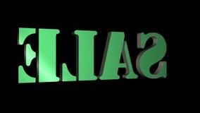 drehender Verkauf Buchstaben des Textes 3D Aufschrift f?r Bewegungsposter, Fahnen Verf?gbar in HD-Videoaufnahmen stock abbildung