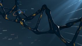 Drehendes DNA-Molekül Das Konzept der Genforschung und der Technik stock video footage