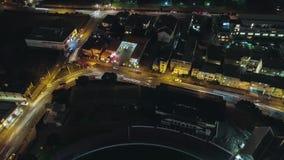 Drehendes Versehen der Nachtzeit panoramische 360 des Verkehrs stock video footage