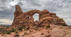 Drehkopf-Bogen im Bogen-Nationaldenkmal, Utah Lizenzfreies Stockbild