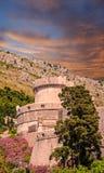 Drehkopf und Wände von altem Dubrovnik Lizenzfreie Stockbilder