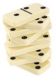Drehkopf von den Knochen eines dominoe Stockfotos