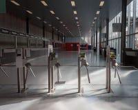 Drehkreuze an HOMI, Ausgangsinternationales Zeigung in Mailand, Italien Stockfotografie