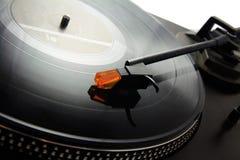 Drehscheibe- und Vinylsatz Stockfoto