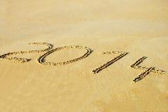 Drehung des Jahres 2013 bis 2014 Lizenzfreie Stockfotos
