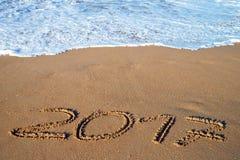 Drehung des Jahres 2016 bis 2017 Stockfotos