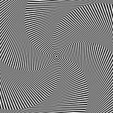 Drehungs- und Rotationsbewegung Auslegung der OPkunst Nahtloses geometrisches Rautemuster Stockbilder