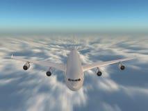 Drehzahl über den Wolken lizenzfreie abbildung