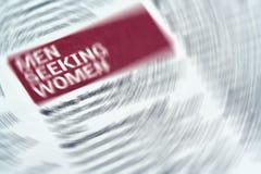 Drehzahl-Datierung Lizenzfreies Stockbild