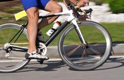 Drehzahl-Fahrradnahaufnahme Stockfotografie