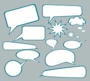 Drehzahl-oder Kommunikations-oder Schwätzchen-Luftblasen Lizenzfreies Stockbild