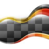 Drehzahl-Rennen-Wellen-Auto-Hintergrund Lizenzfreie Stockfotografie