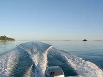 Drehzahlboot Stockbild