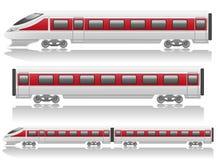 Drehzahlserienlokomotive und -lastwagen Stockfotos