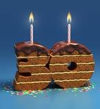 Dreißigster Geburtstag oder Jahrestag des Geburtstagkuchens Lizenzfreie Stockfotos