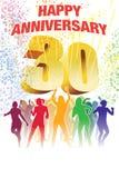 Dreißigster Jahrestag Lizenzfreie Stockfotos