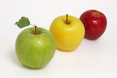 Drei Äpfel Lizenzfreie Stockfotografie