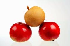 Drei Äpfel Stockbild