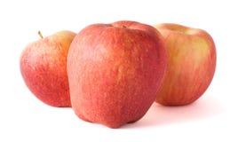 Drei Äpfel getrennt auf weißem Hintergrund Lizenzfreies Stockbild