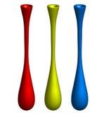 Drei ästhetische Vasen Stockbild