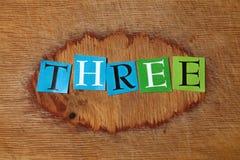 Drei lizenzfreie stockfotos
