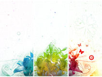 Drei abstrakte Fahnen stock abbildung