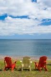 Drei Adirondack Stuhl Stockfoto