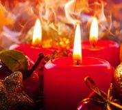 Drei Advent Candles Lizenzfreies Stockbild
