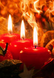 Drei Advent Candles Stockbild