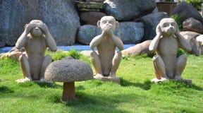 Drei Affen Stockfotos