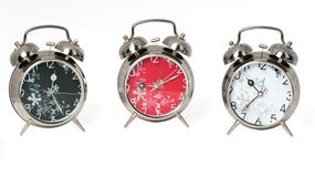 Drei Alarmuhren Stockbild