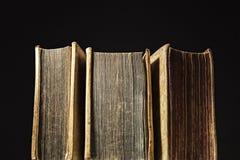 Drei alte Bücher Lizenzfreie Stockfotografie