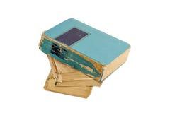 Drei alte Bücher auf einem hellen Hintergrund Stockfoto