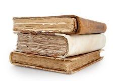 Drei alte Bücher auf einem Stapel Lizenzfreie Stockbilder