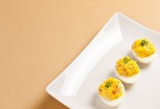 Drei angefüllte Eier Stockfoto
