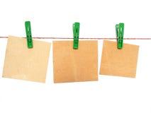 Drei Ansagen Lizenzfreie Stockbilder