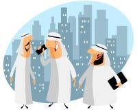Drei arabische Geschäftsmänner Stockfotos