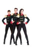 Drei attraktive Tänzer in den Kostümen Lizenzfreies Stockbild