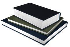 Drei Bücher auf weißem Hintergrund Lizenzfreies Stockbild