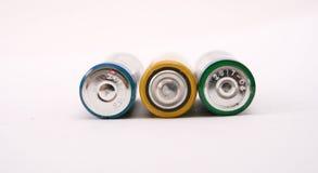 Drei Batterien Stockbilder