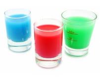 Drei Behälter mit saurer Substanz Lizenzfreies Stockbild
