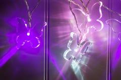 Drei belichteter Crystal Clear Butterfly Lights lizenzfreies stockfoto