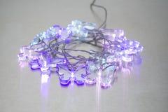 Drei belichteter Crystal Clear Butterfly Lights stockbilder