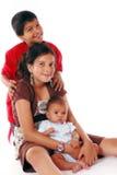 Drei Biracial Geschwister. Lizenzfreie Stockfotografie
