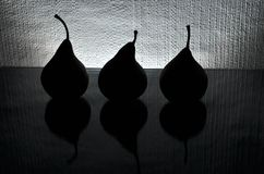Drei Birnen Stockfotos