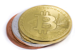 Drei bitcoins Lizenzfreie Stockfotografie