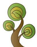 Drei Blatt-Baum Lizenzfreies Stockbild